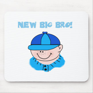 Boy in Baseball Cap New Big Bro Mouse Pads