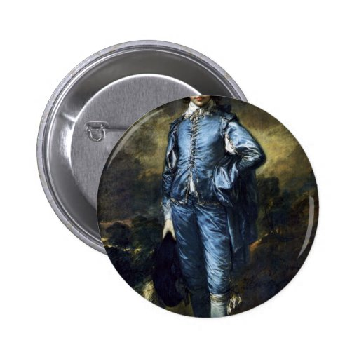 Boy In Blue (Portrait Of Jonathan Buttall) By Gain Pinback Button