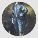 Boy In Blue (Portrait Of Jonathan Buttall) By Gain Round Sticker