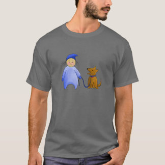 Boy in Blue with Dog T-Shirt