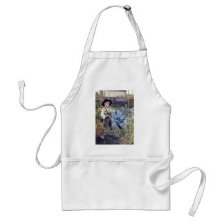 Boy in Cabbage Garden painting Aprons