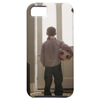 Boy in foyer with soccer ball iPhone SE/5/5s case