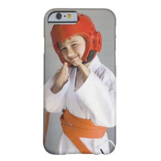 Boy in karate uniform wearing sparring headgear barely there iPhone 6 case