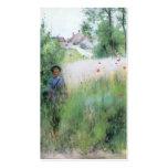 Boy in Meadow - Sommerbilder Business Card Template