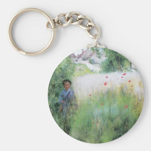 Boy in Meadow - Sommerbilder Key Chains