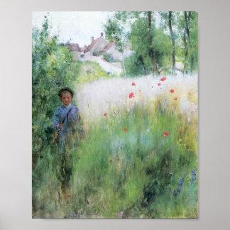 Boy in Meadow - Sommerbilder Print