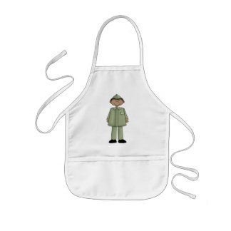 Boy In Military Uniform Kids' Apron
