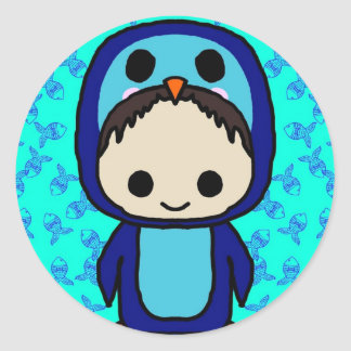 Boy in Penguin Suit (Kawaii Club) Classic Round Sticker