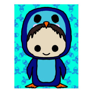 Boy in Penguin Suit (Kawaii Club) Postcard