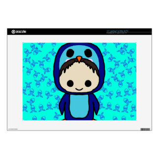 "Boy in Penguin Suit Kawaii Club 15"" Laptop Skin"