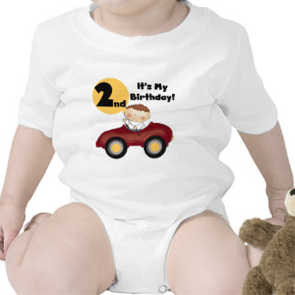 Boy in Red Car 2nd Birthday Tshirts and Gifts