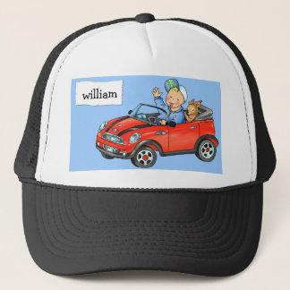 Boy in Red Car- Cap