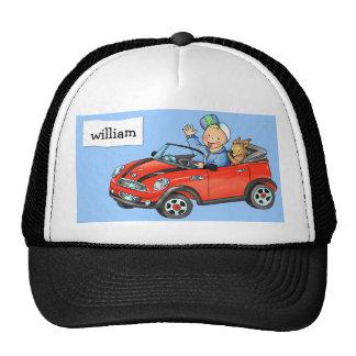 Boy in Red Car- Cap Trucker Hat