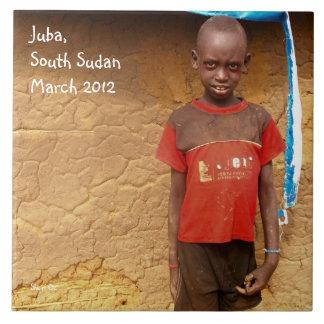 Boy in South Sudan Tile