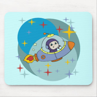 Boy in Space Ship Tshirts and Gifts Mouse Pad