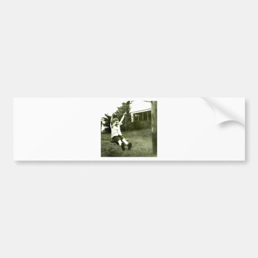 Boy In Swing Bumper Stickers