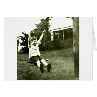 Boy In Swing Card