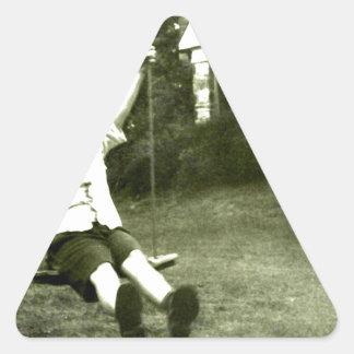 Boy In Swing Triangle Sticker