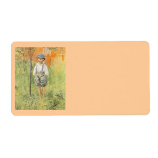 Boy in the Grass Shipping Label