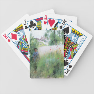 Boy in the Meadow Bicycle Playing Cards
