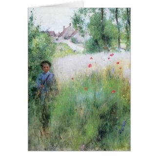 Boy in the Meadow Card