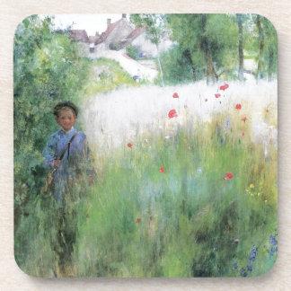 Boy in the Meadow Drink Coaster
