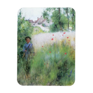 Boy in the Meadow Magnet