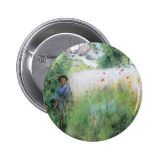 Boy in the Meadow Pinback Button