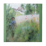 Boy in the Meadow Small Square Tile