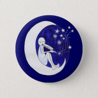 Boy in the moon pinback button
