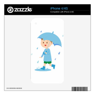 Boy in the Rain Decal For iPhone 4S