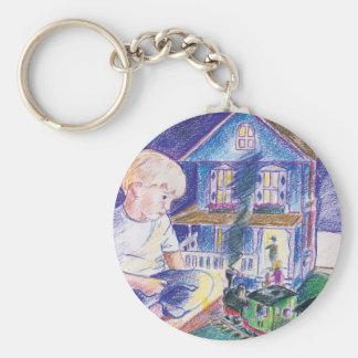 Boy in Toy World Keychains