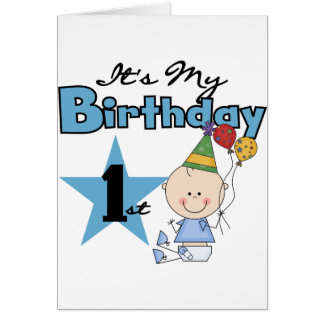 Boy It's My Birthday Tshirts and Gifts Card