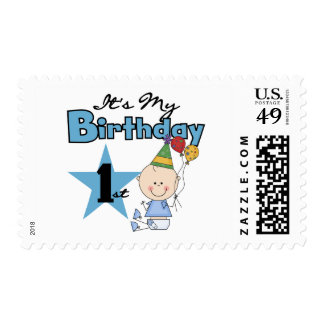 Boy It's My Birthday Tshirts and Gifts Postage Stamp