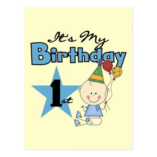 Boy It's My Birthday Tshirts and Gifts Postcard
