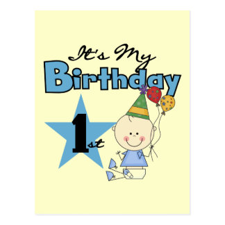 Boy It's My Birthday Tshirts and Gifts Postcards