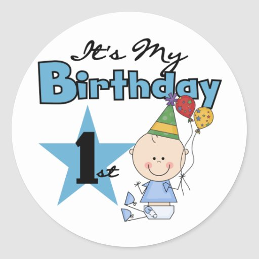 Boy It's My Birthday Tshirts and Gifts Sticker