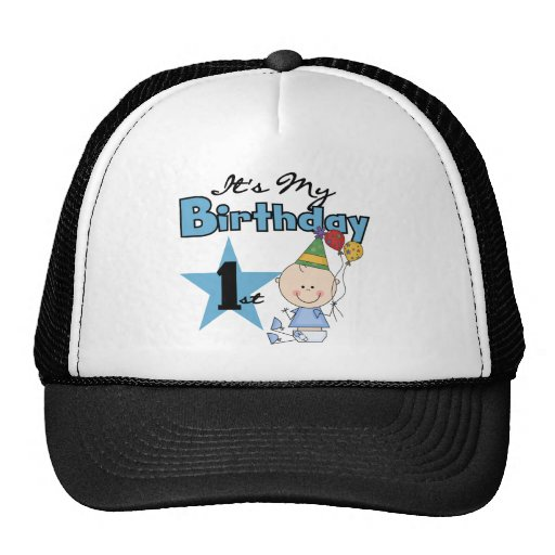 Boy It's My Birthday Tshirts and Gifts Trucker Hat