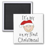 Boy It's My Very First Christmas Tshirts and Gifts Magnet