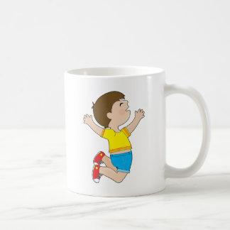 Boy Jumping Classic White Coffee Mug