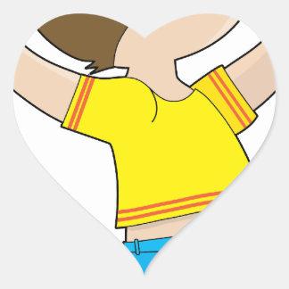 Boy Jumping Heart Sticker