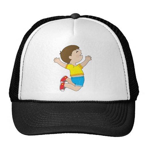 Boy Jumping Trucker Hat