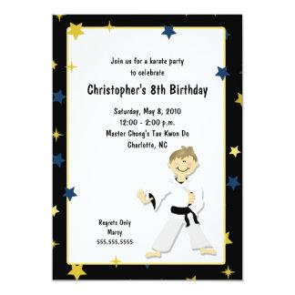 BOY KARATE MARTIAL ART BIRTHDAY PARTY CARD