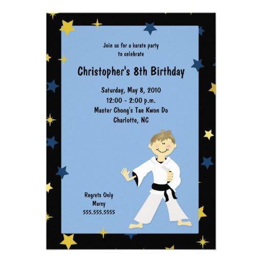Personalized Martial arts birthday Invitations CustomInvitations4Ucom