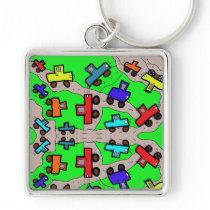 boy key chain car drawing cartoon cars