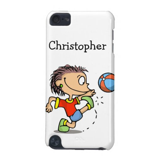 Boy kicking soccer ball iPod Speck Case iPod Touch (5th Generation) Case