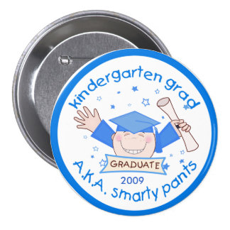 Boy Kindergarten Graduate / Graduation Button