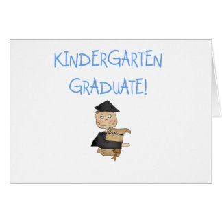 Boy Kindergarten Graduate T-shirts and Gifts Greeting Card