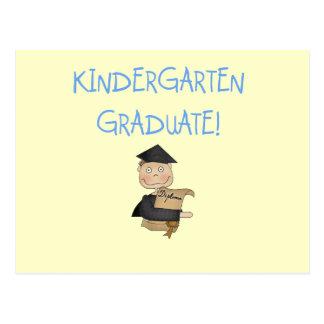 Boy Kindergarten Graduate T-shirts and Gifts Postcard