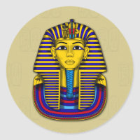 Boy King Tutankhamun Death Mask Classic Round Sticker